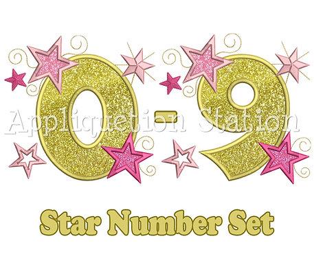 Stars and Swirls Number Set