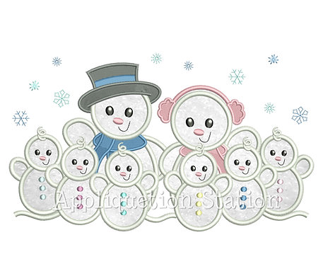 Snowman Family 6 Children / Grandchildren