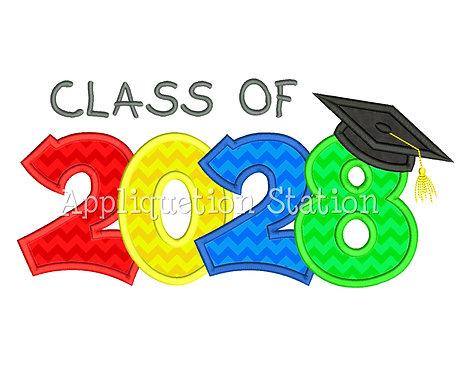 Class of 2028 Graduation Cap