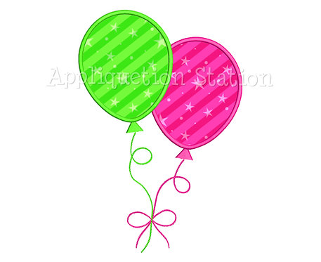 2 Birthday Balloons