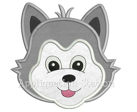 Zoo Baby Wolf Head