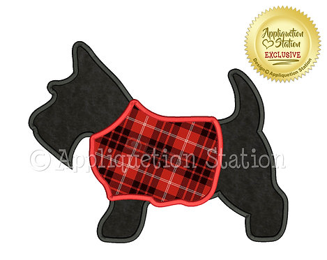 Scottie Dog Silhouette with Sweater