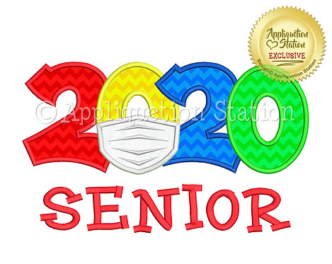 2020 with mask School Senior