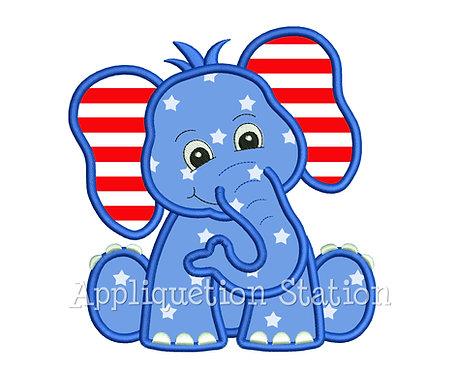 Patriotic Baby Elephant