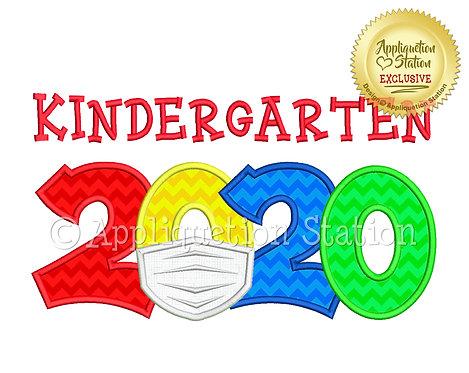 2020 with mask School Kindergarten