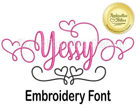 BX Yessy Script Font