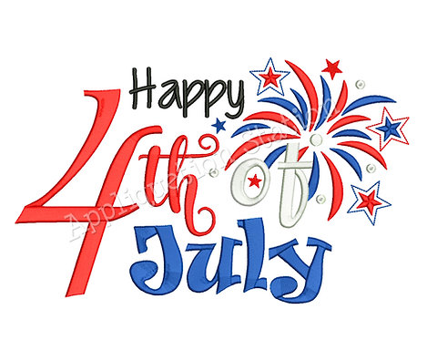 Happy 4th of July Word Art