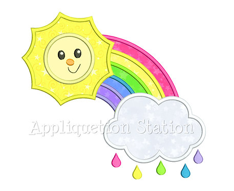 Rainbow with Sun and Cloud