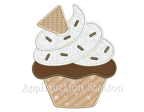 Cupcake Dollop with Wafer