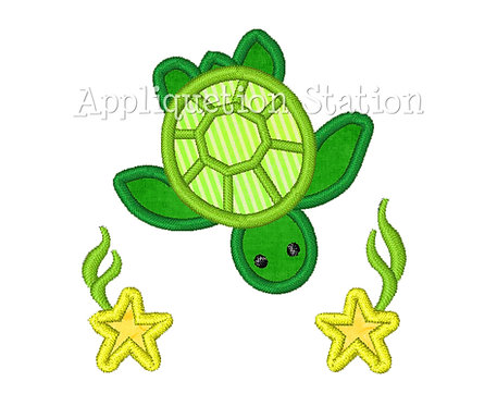 Turtle with Stars