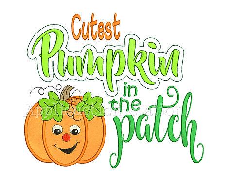 Cutest Pumpkin in the Patch Word Art