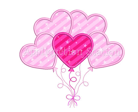 Heart Balloons Cluster 2 Color