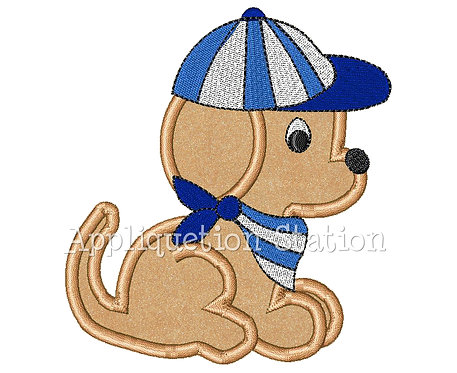 Puppy with Baseball Hat