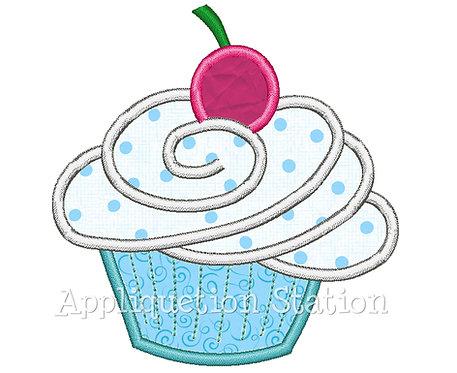 Birthday Cupcake with Round Cherry