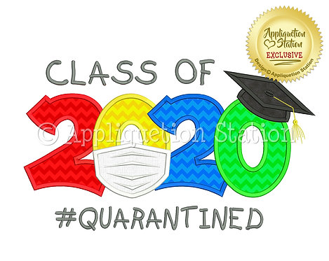 Class of 2020 Graduation Cap Mask #Quarantined