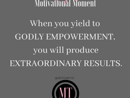Yielding to Godly Empowerment