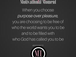 Purpose Over Pleasure