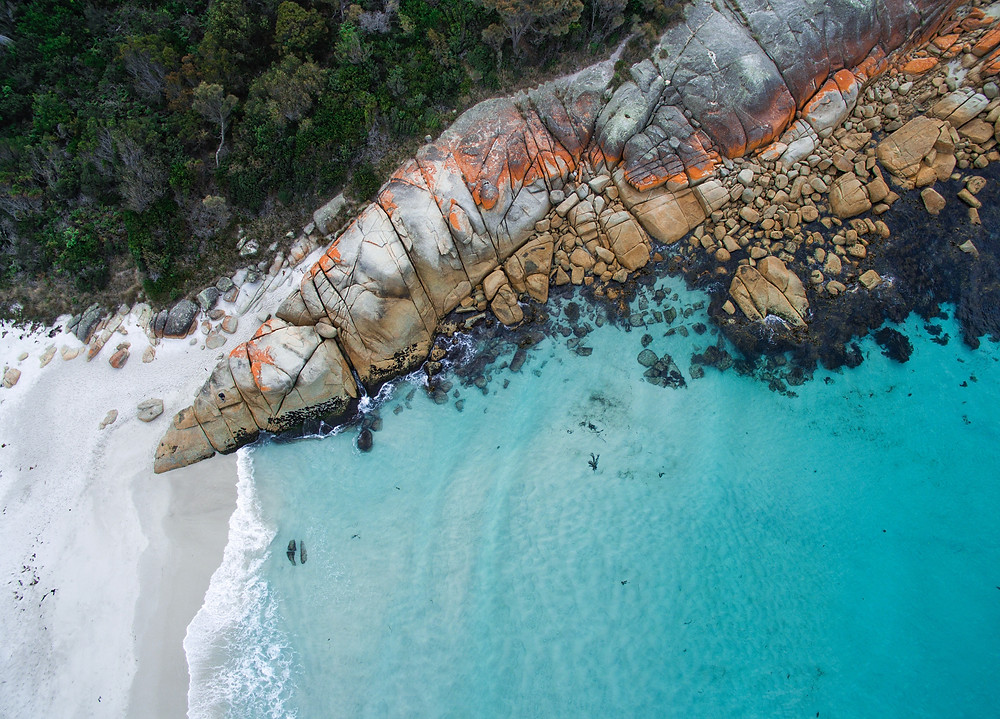 Gorgeous contrasting colours of Binalong Bay.
