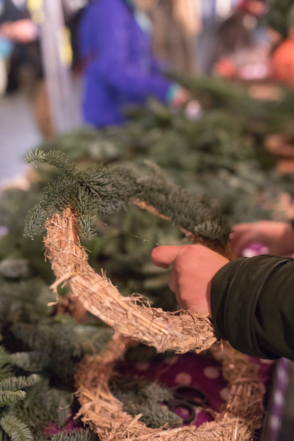 Making a wreath from scratch