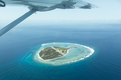 About to land on Lady Elliot Island