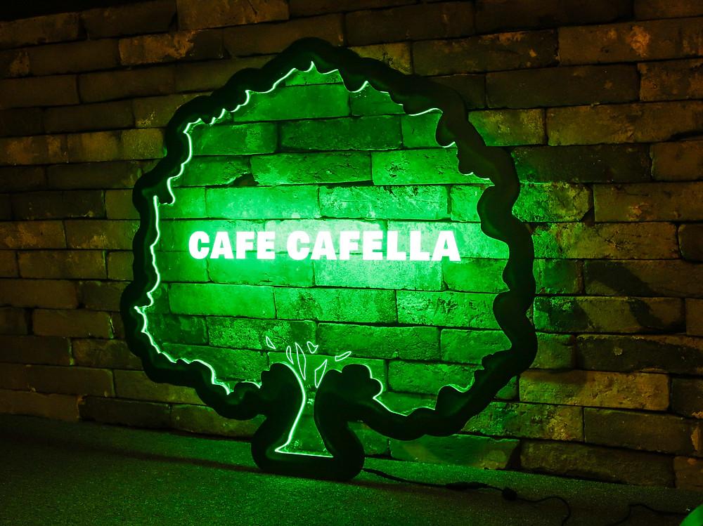 카페 벽 포인트 간판