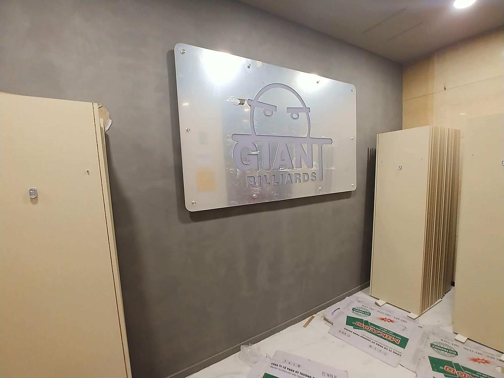 대형 거울 조명 사인, 대형 거울 LED 후광 간판