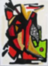 Impulsion (100 x 73cm) Huile sur toile_e