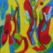 Chant (100 x 100cm) Huile sur toile - Co