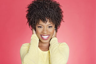 Portrait of a cheerful African American