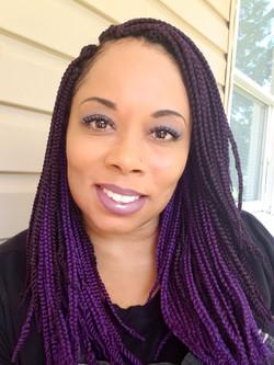 Purple Box Braids