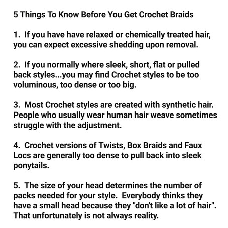 5 Things To Know Before You Get Crochet Braids