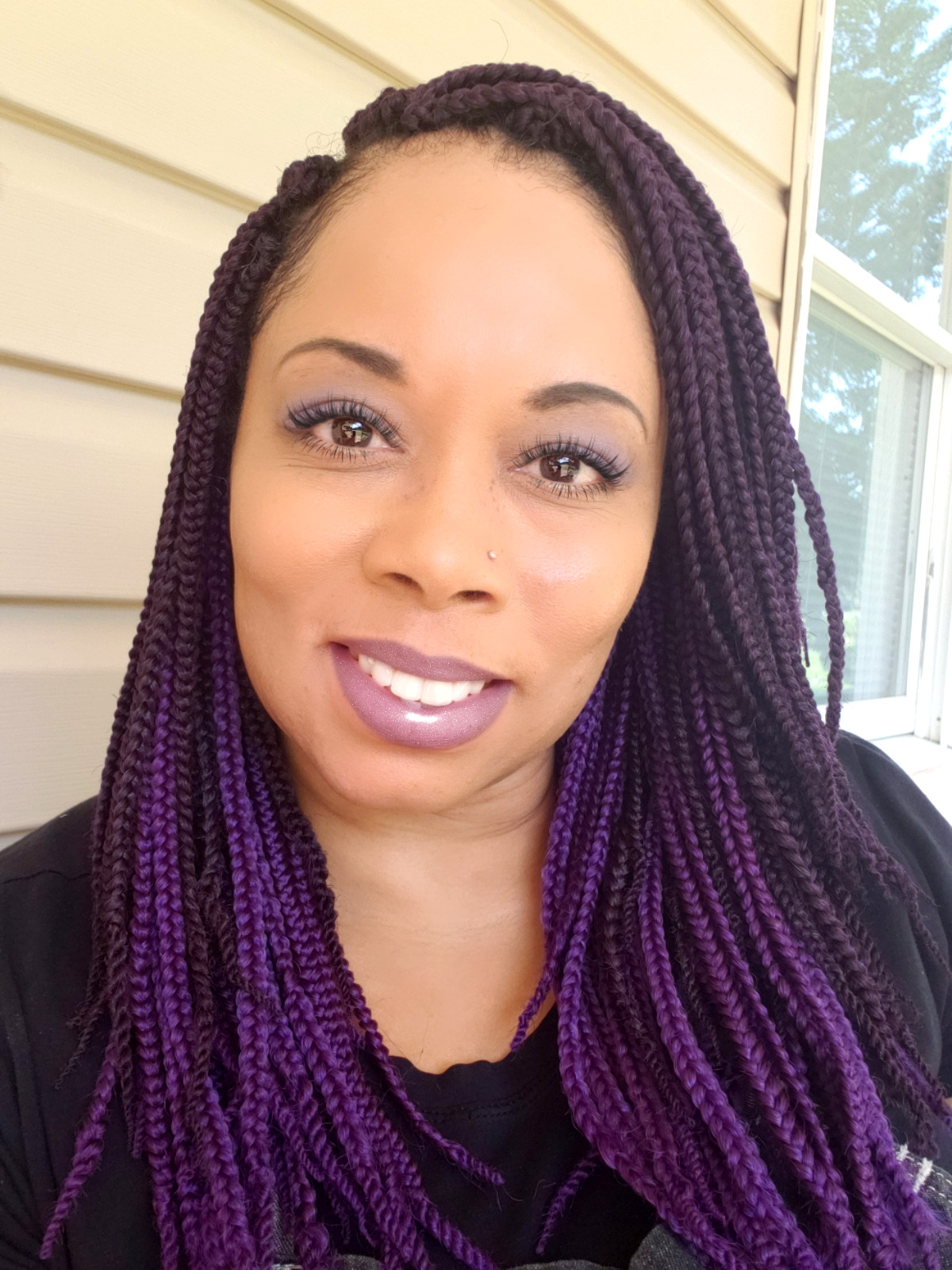 "12"" Purple Box Braids by Janet Collectio"