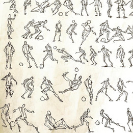 Quick Soccer Gesture Drawings