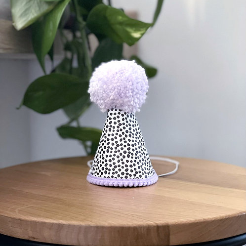 Glitter Party Hat | Dotty Lilac