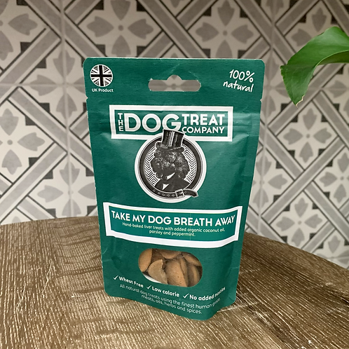 Take My Dog Breath Away Premium Liver Treat Pouch