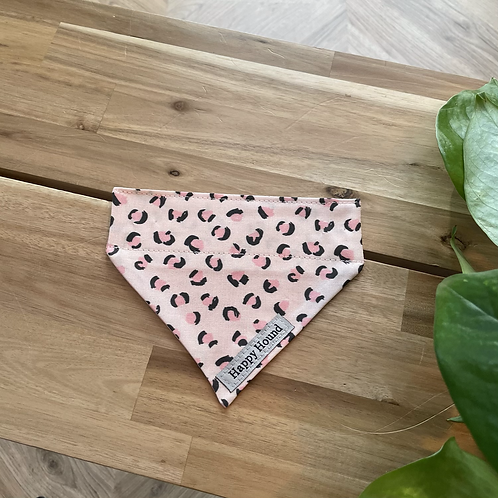 Pink Leopard Print Bandana | Extra Small | Handmade Night