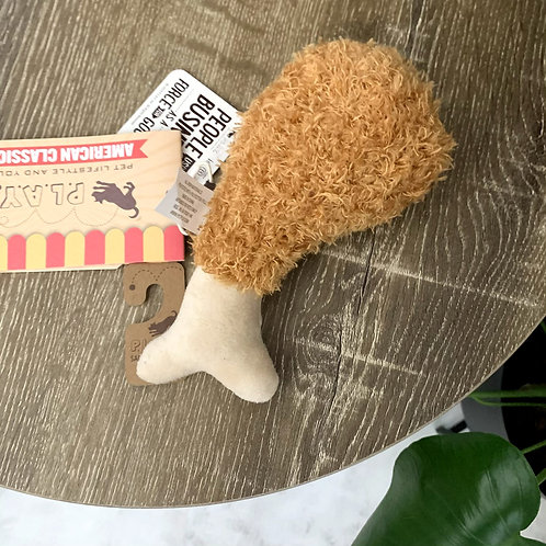 Fried Chicken   Plush Dog Toy