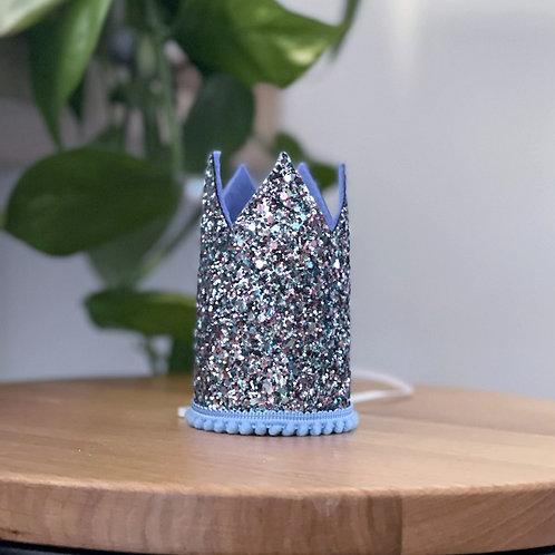 Glitter Crown | Grey Blue