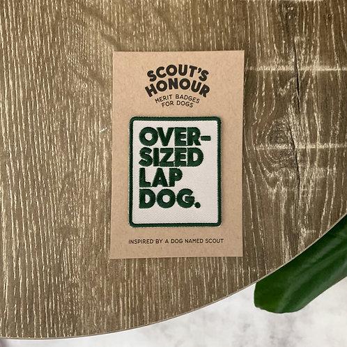 Oversized Lap Dog Merit Badge
