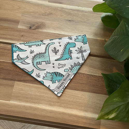 Dinosaur Bandana | Extra Small | Handmade Night