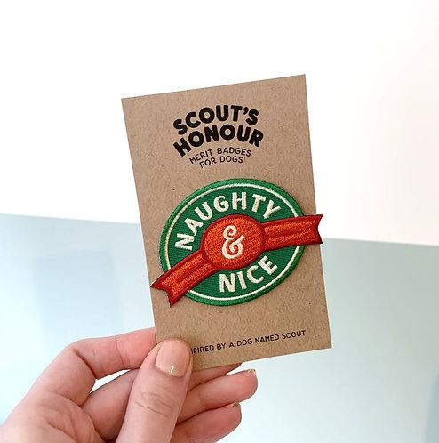 Christmas Merit Badge - Naughty & Nice