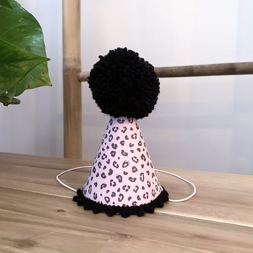 Glitter Party Hat | Leopard Print