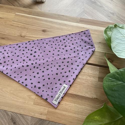 Purple Dotty Bandana   Medium   Handmade Night