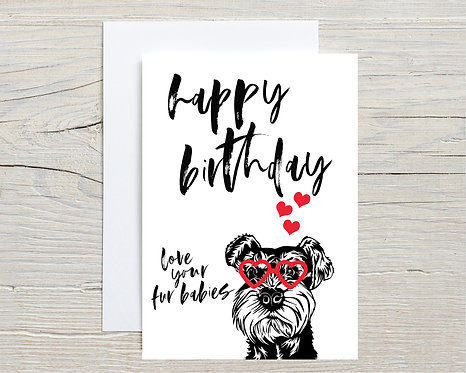 Card | Happy Birthday From Your Fur Babies