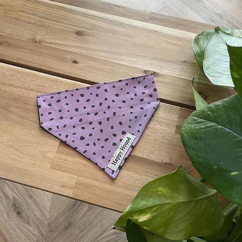 Purple Dotty Bandana | Extra Small | Handmade Night