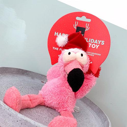 Christmas Flo The Flamingo Plush Toy