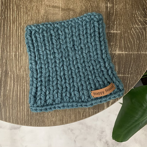 Chunky Knitted Snood Blue
