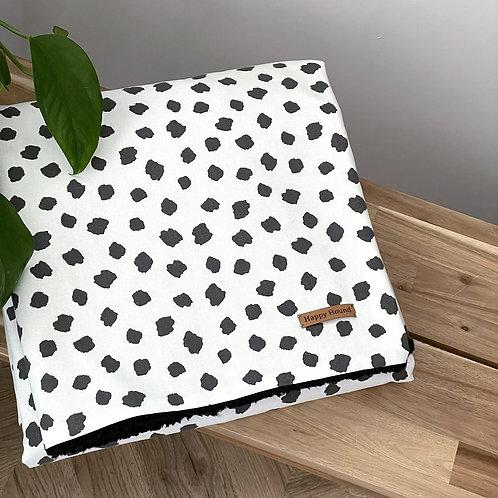 Handmade Blanket | Dalmation | Black Back