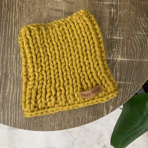 Chunky Knitted Snood | Ochre