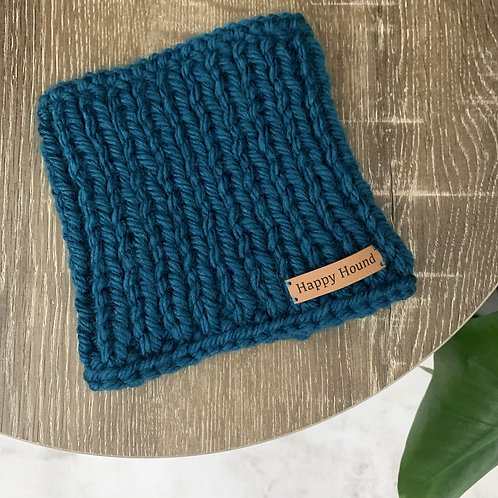 Chunky Knitted Snood Petrol
